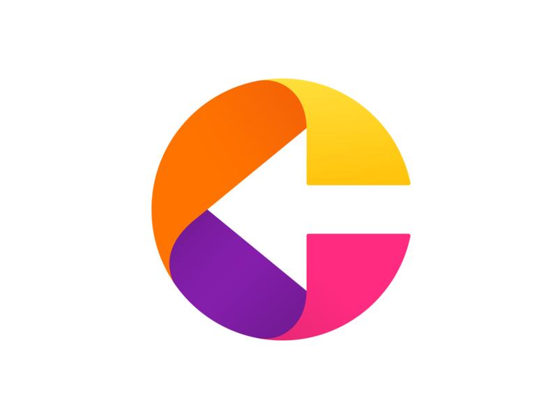C arrow negative space logo arrow letter c c logo c typography logotype letter monogram symbol mark logo
