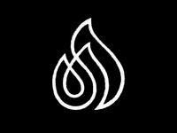 Georgian letter ა + fire
