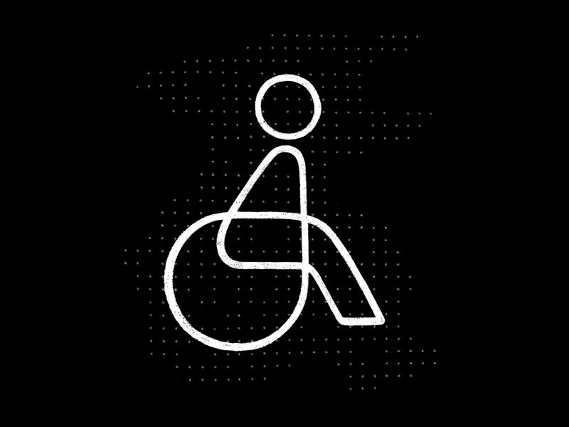 Wheelchair icon icondesign design illustration icon symbol mark logo