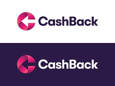 CashBack c letter c arrow negative space typography logotype letter monogram symbol mark logo