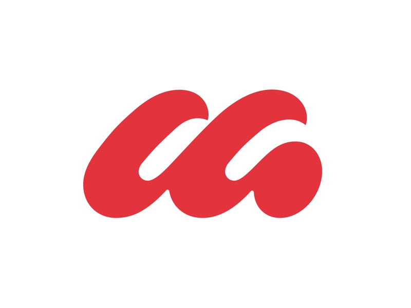 M logo m letter m m negative space typography logotype letter monogram symbol mark logo