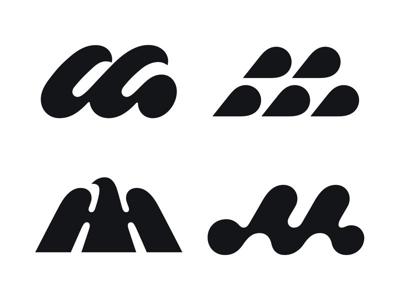 wip m logo letter m m typography logotype letter monogram symbol mark logo