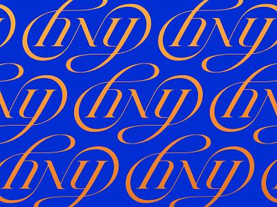 HNY ambigram happy new year new year lettering calligraphy typography logotype letter monogram symbol mark logo