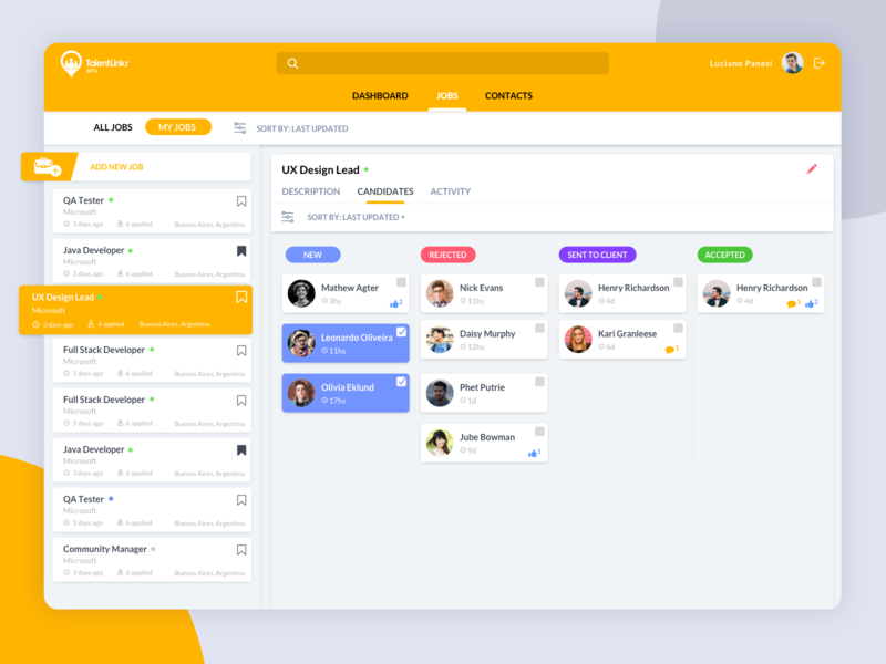 Talent Recruitment Platform - Product Design