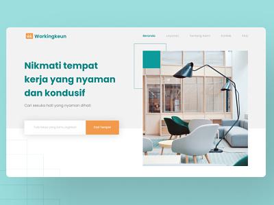 Workingkeun-Coworking Landing Page ui
