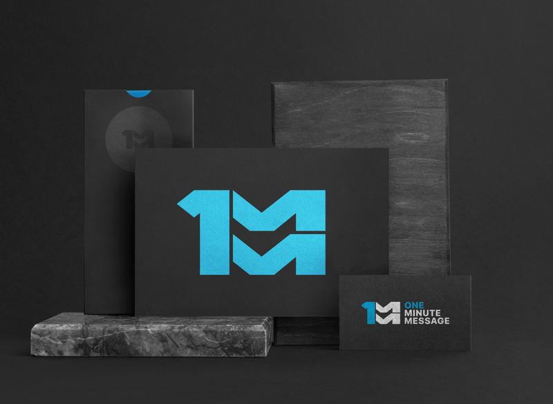 One Minute Message Brand time logo minute church media branding illustration graphic  design logo design logodesign branding design podcast time 1 minute brand identity logo brand
