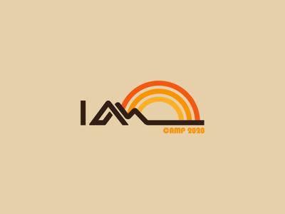 I Am Camp Theme logo illustrator brand and identity church logo design church media church branding branding