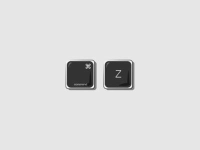 Items of Quarantine: Command-Z typography vector brand and identity illustrator illustration logo