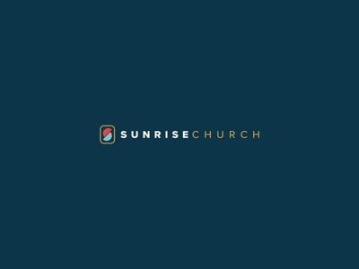 Sunrise Church Branding church graphic design brand and identity church media graphic  design illustrator church branding logo design logo branding