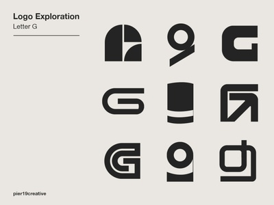Letter G Logo Exploration branding lettering logotype logo exploration alphabet letter g logo design logo