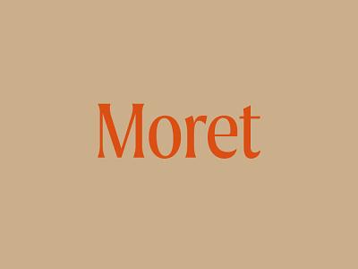 Moret Type logo design graphic  design brand and identity design font logotype logo typeface type branding type branding type daily
