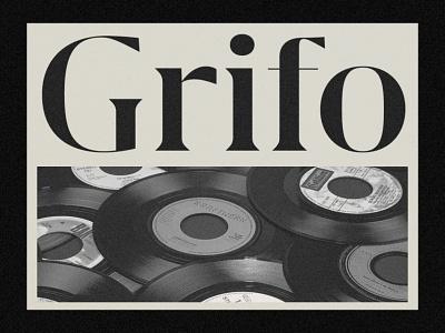 Grifo Type vector typography brand and identity graphic  design design logo design typeart typedesign typeface minimal font logotype branding grifo type