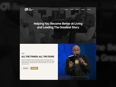 The Greatest Story typography logo design illustrator brand and identity ministry church bible story logo branding website