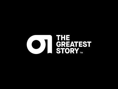 The Greatest Story logotype logodesign greatest resurrection tomb book illustration design brand and identity logo design logo branding