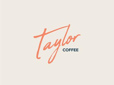 Taylor Coffee design vector typography graphic  design logo design logo brand and identity branding illustrator coffee