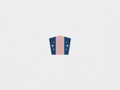 Remember & Honor star logo flag logo branding brand and identity usa flag day united states memorial day graphic  design design logo design logo