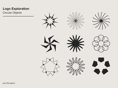 Logo Exploration of Circular Objects graphic  design brand and identity marks logomark circle designs circle branding logo design illustrator circle logo circle logos logo circles