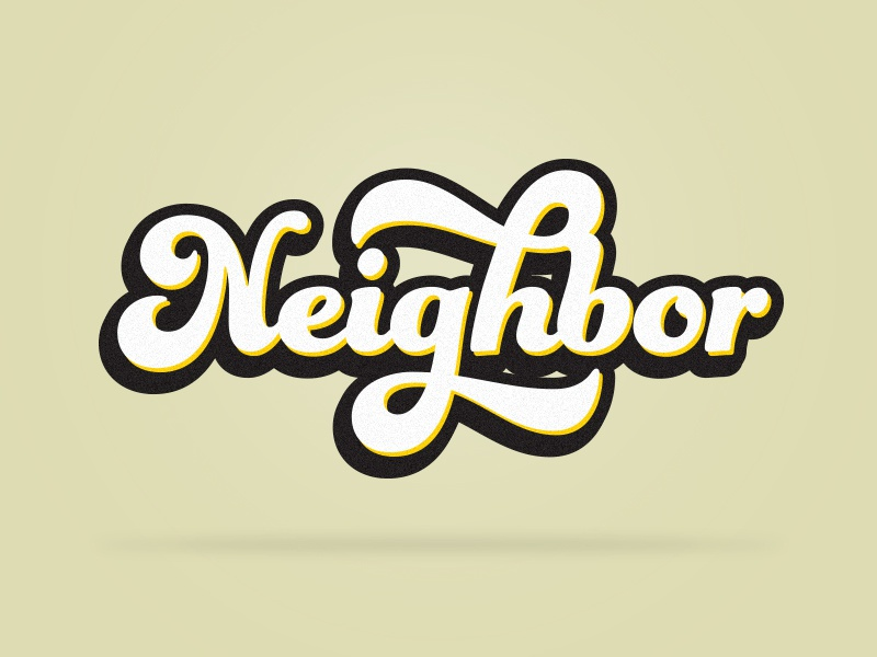 Neighbor Sermon Series Concept branding church branding photoshop church media church graphic graphic  design
