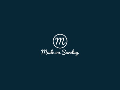 Made On Sunday Apparel Logo branding designer international clothing label golf logo brand and identity logo design branding branding design