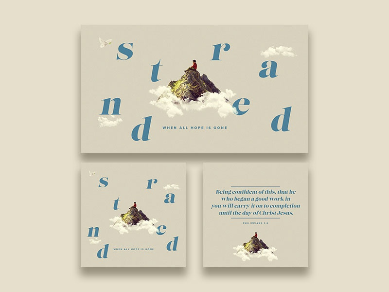 Stranded Sermon Series prochurchmedia crtvchurch design photoshop sermon title graphic  design sermon series sermon art church branding church media church graphic branding