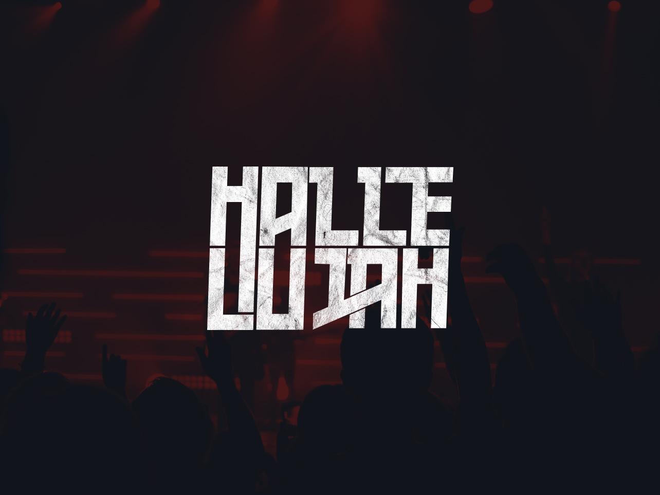 Hallelujah Logo designart custom font hallelujah logo church logo logo branding hallelujah typeography customlettering church graphic logo design church branding illustrator