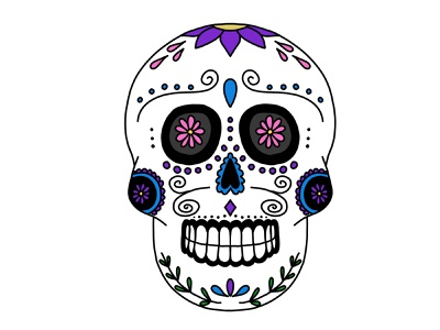 Sugar Skul illustration apple pencil procreate dia de los muertos day of the dead sugar skull