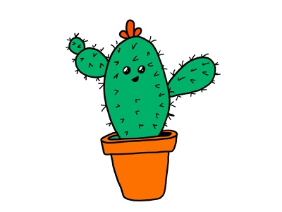 Cute Cactus kawaii succulent cactus illustration apple pencil procreate