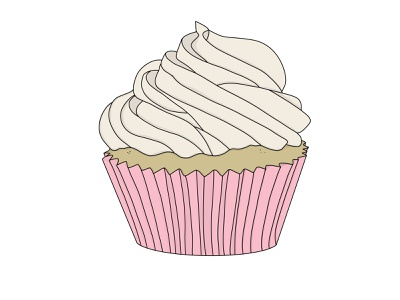 Cupcake Delight kawaii apple pencil procreate frosting cup cake sweets yum cupcake