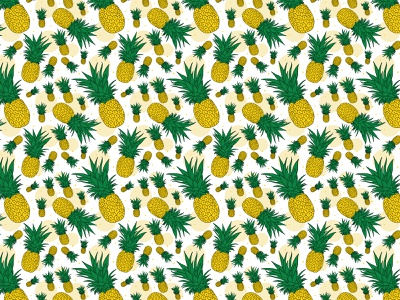 Dribble 2019smfr005 apple pencil procreate illustration vectorart adobe illustrator sweet teal paradise island fruit tropical fruit pineapple slice hand drawn pattern seamless pattern blue fruit summer pineapple