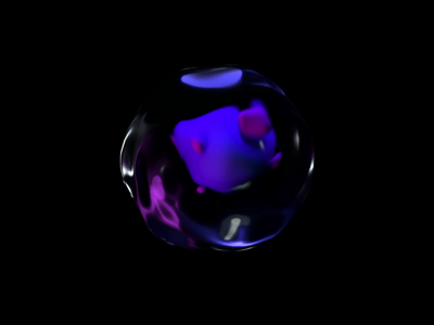 Organic Shape after effect reflections glass