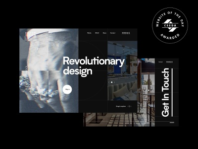 Website of the Day web interface dark typography effects after interaction animation ux ui