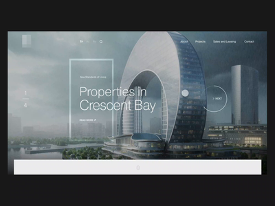 Real Estate Website Homepage Scroll Animation web smooth effects after interaction animation ux ui