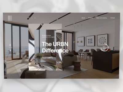 Real Estate Website Animation Concept #2 web after effects interaction animation ux ui