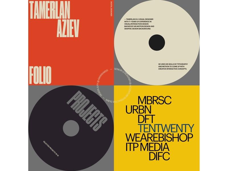 Folio Concept typography portfolio ui