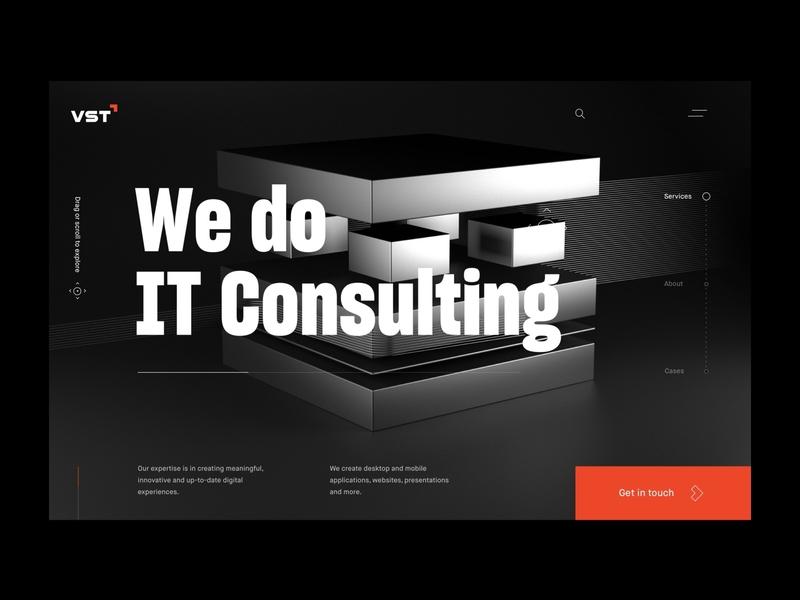 VST studio web dark ux ui