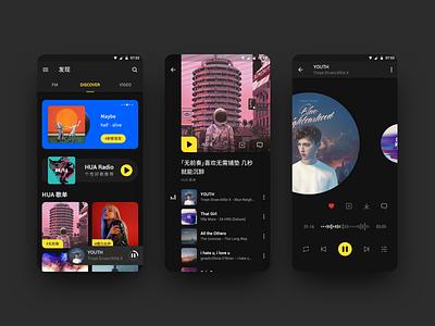 Music App - Material Design sketch design music app graphic ux ui music