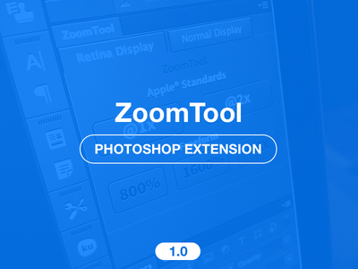 Zoom Tool - Photoshop extension - free photoshop extension free zxp plugin freebie tool tools