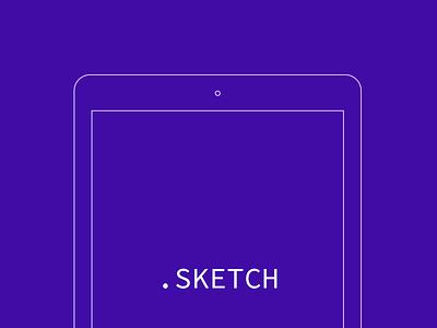 iPad Air Wireframe ipad wireframe blueprint freebie free sketch outline template