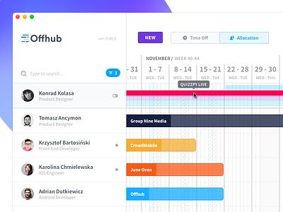 🎈 Offhub - Allocations calendar clean ui application mac app