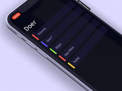 Doer is on! app store dark ui simple lists todo to-do doer