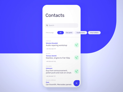 Contacts after effects motion design motion minimal ios app ios application contacts animation