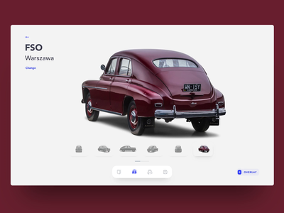 Car Comparison interface design webdesign concept oldtimer car application web app clean ui clean animation interaction