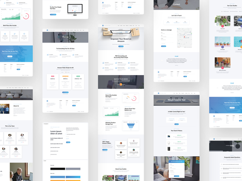Web Design + Build for Amazon Consulting Firm  🖥📦 desktop design layout pages consulting clean websites style guide web design website amazon