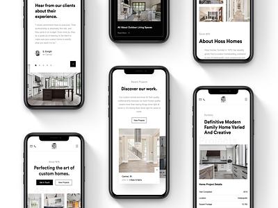 HH - Mobile/Desktop 📱💻 mobile design website web deisgn real estate yonke minimal white space white clean interior design interior furniture homebuilder house home architecture architect