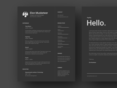 Resume & Cover Letter Template for Figma cover letter template cover letter figma template dark theme dark ui dark mode dark figma yonke resume template resume clean resume design resume cv resume cv resume template cv template cv resume cv design cv