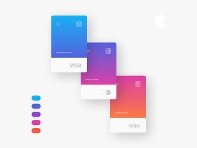 CardX gradient card bank card fintech credit card