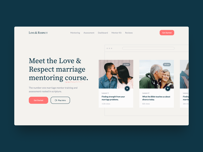 Marriage Assessment ❤️ Hero Exploration assessment couples married marriage clean website design web design website hero section hero banner hero image hero