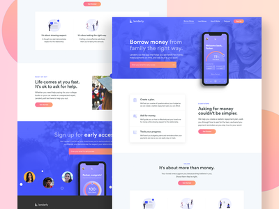Lenderly Landing Page