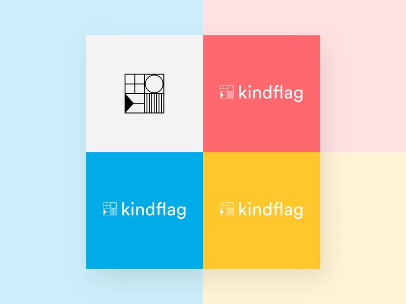 Logo and color exploration for kindflag portfolio brand design branding brand identity logo design palette logo