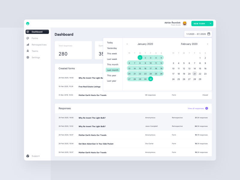 Dashboard in admin panel selector calendar dashboard ui admin design admin panel admin dashboad design app ux ui